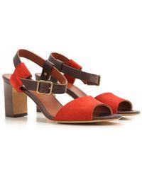 Michel Vivien Sandals For Women - Red