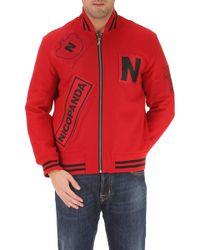 Nicopanda Jacket For Men On Sale - Red