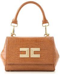 Elisabetta Franchi Top Handle Handbag - Brown