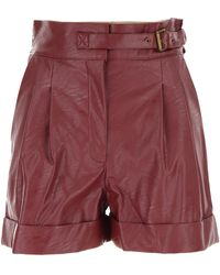Twin Set Pantaloncini Shorts Donna In Outlet - Rosso