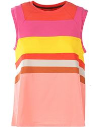 Paul Smith - Striped Flared Tank Top - Lyst