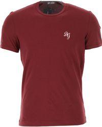 Dolce & Gabbana T-shirt Homme Pas cher en Soldes - Rouge