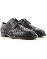 Dolce & Gabbana Scarpe Stringate Uomo In Outlet - Nero