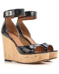 Givenchy Chaussure à Talon Compensé Femme Pas cher en Soldes Outlet - Noir