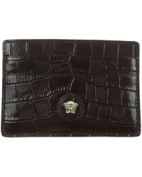 Versace Card Holder On Sale - Black