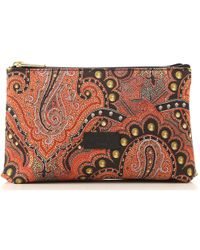Etro Makeup Bag Cosmetic Case for Women - Rosso