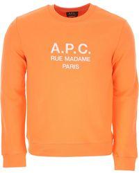 A.P.C. Sweatshirt For Men - Orange