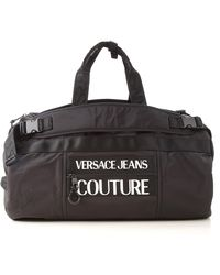Versace Jeans Couture Reflective Three-way Duffel Bag - Black