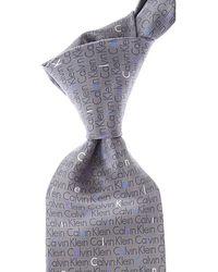 Calvin Klein Cravates Pas cher en Soldes - Gris