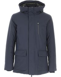 ca0496bd84c0 Herno. Blue Padded Montgomery.  852. The Clutcher · Save The Duck - Down  Jacket For Men - Lyst