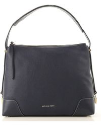 bf6af5c603491 Lyst - Michael Kors  anabelle  Large Leather Top Zip Tote in Blue