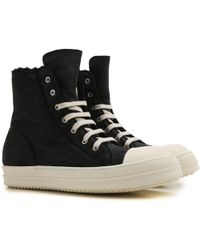 Rick Owens Sneaker Uomo In Outlet - Nero
