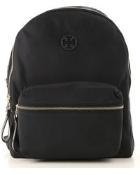 8969ff6f77f8 Lyst - Tory Burch Marion Quilted Smooth Leather Backpack in Black