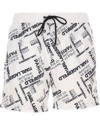 Karl Lagerfeld Swim Shorts Trunks for Men In Saldo - Multicolore