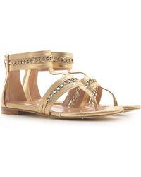 Twin Set Sandals For Women - Metallic