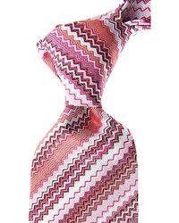 Missoni Cravates Pas cher en Soldes - Rose