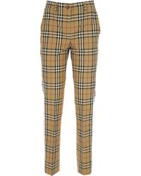 Burberry Pants For Women - Natural