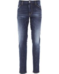 DSquared² Denim Jeans In Saldo - Blu