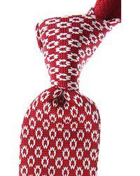 Kiton Cravates Pas cher en Soldes - Rouge