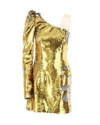 cbe5649c48fc Lyst - Vineet Bahl Brocade Knee-length Dress Gold in Metallic