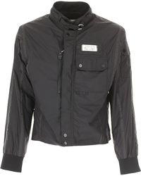 a7916449aeac Maison Margiela Solid Spread Collar Denim Jacket in Black for Men - Lyst