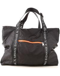 Armani Exchange Gym Bag Sports For Men - Black