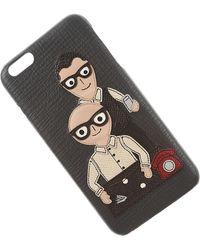 Dolce & Gabbana IPhone Cases Pas cher en Soldes Outlet - Gris