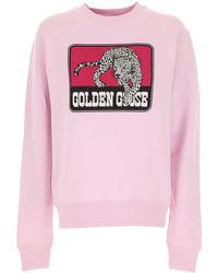 Golden Goose Deluxe Brand Graphic-print Relaxed-fit Sweatshirt - Pink