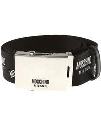 a5bb0d5a11 Logo Belt Patent Leather Black. £169. Fashionette · Moschino - Belts - Lyst