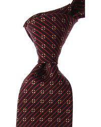 Brioni Cravates Pas cher en Soldes - Rouge