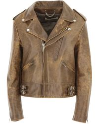 Golden Goose Deluxe Brand - Leather Jacket For Women On Sale - Lyst
