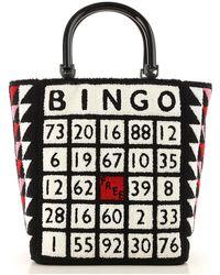 Lulu Guinness Bingo Bibi Tote - Black