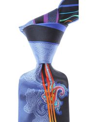 Vitaliano Pancaldi Cravates Pas cher en Soldes - Bleu