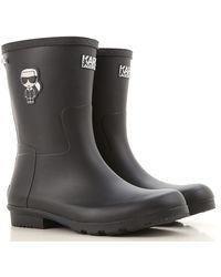 Karl Lagerfeld Boots For Women - Black