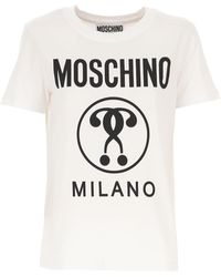 Moschino T-Shirt Donna In Saldo - Bianco