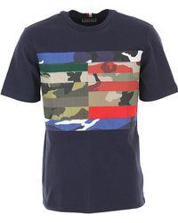 Tommy Hilfiger Camiseta de Hombre Baratos en Rebajas Outlet - Azul