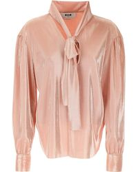 MSGM Top For Women - Pink