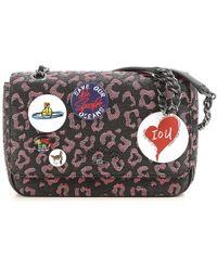 901b75c6e8e0 Lyst - Vivienne Westwood Bow Shoulder Bag W  Chain in Black