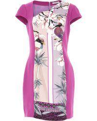 Versace - Bicolor Asymmetrical Cady Sheath Dress - Lyst