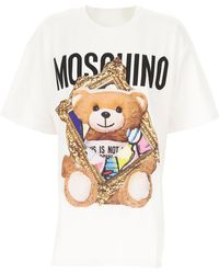 Moschino T-Shirt Donna In Saldo - Multicolore