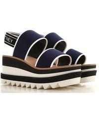 Stella McCartney Chaussure à Talon Compensé Femme Pas cher en Soldes - Bleu