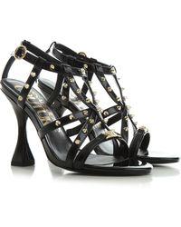 Versace Jeans Couture Sandali Donna - Nero