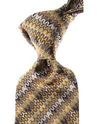 Missoni Cravates Pas cher en Soldes - Jaune