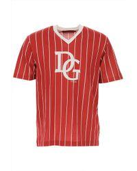 Dolce & Gabbana T-Shirt Uomo In Saldo - Rosso