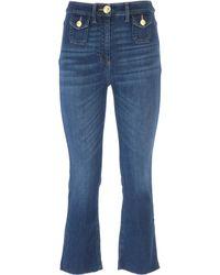 Elisabetta Franchi Denim Jeans In Saldo - Blu
