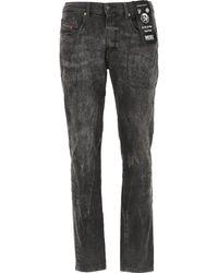 DIESEL Denim Jeans In Outlet - Nero