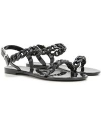 65e79d8afa5b Lyst - Givenchy Nea Jelly Flat Sandals in White