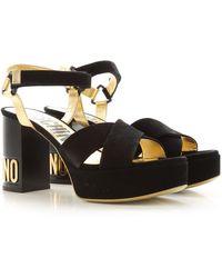 Moschino Sandals For Women - Black