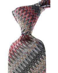 Missoni Cravates Pas cher en Soldes - Gris