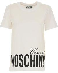 Moschino T-shirt Femme - Blanc